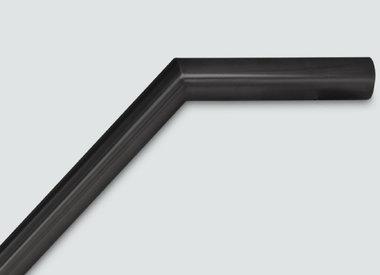 Zwarte trapleuning met verstekhoek
