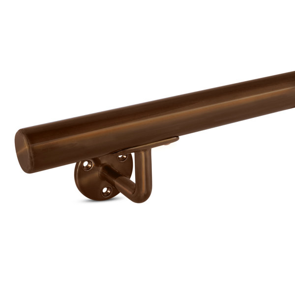 Brons trapleuning gecoat rond smal incl. dragers TYPE 1