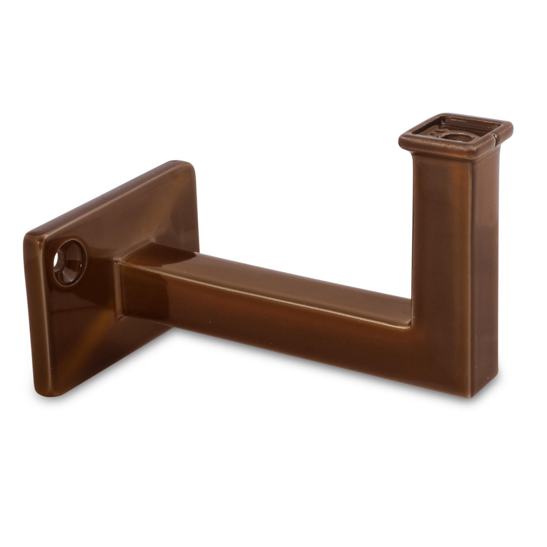 Brons look trapleuning vierkant 40*10 inclusief leuningdragers TYPE 10 - brons - goud - messing poedercoating