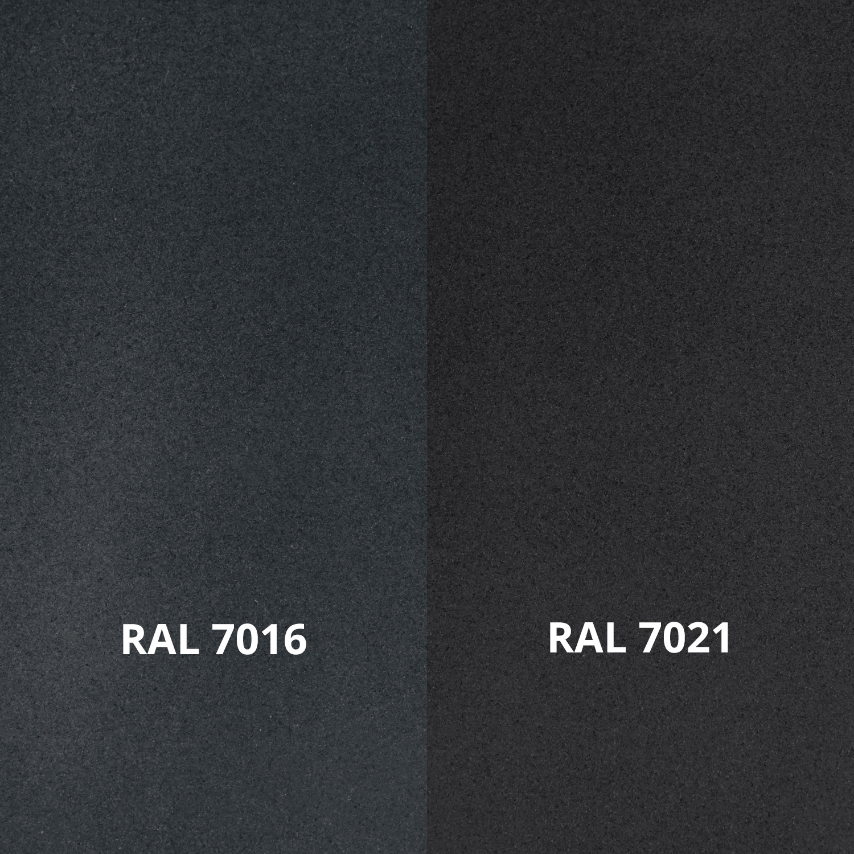 Antraciet trapleuning gecoat vierkant 40*40 incl. drager TYPE 7 - fijnstructuur poedercoating donkergrijs RAL 7016 mat