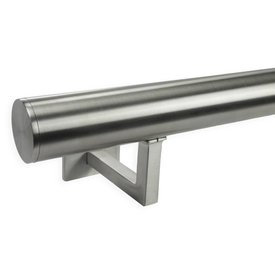 INOX trapleuning rond incl. dragers TYPE 11