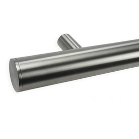 INOX trapleuning rond incl. dragers TYPE 14