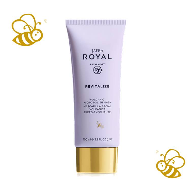 Jafra Royal Jelly Revitalize Royal Jelly Vulkanische Mikropeeling-Maske