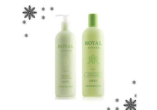 Jafra Royal Ginger Body Lotion oder Öl - SET