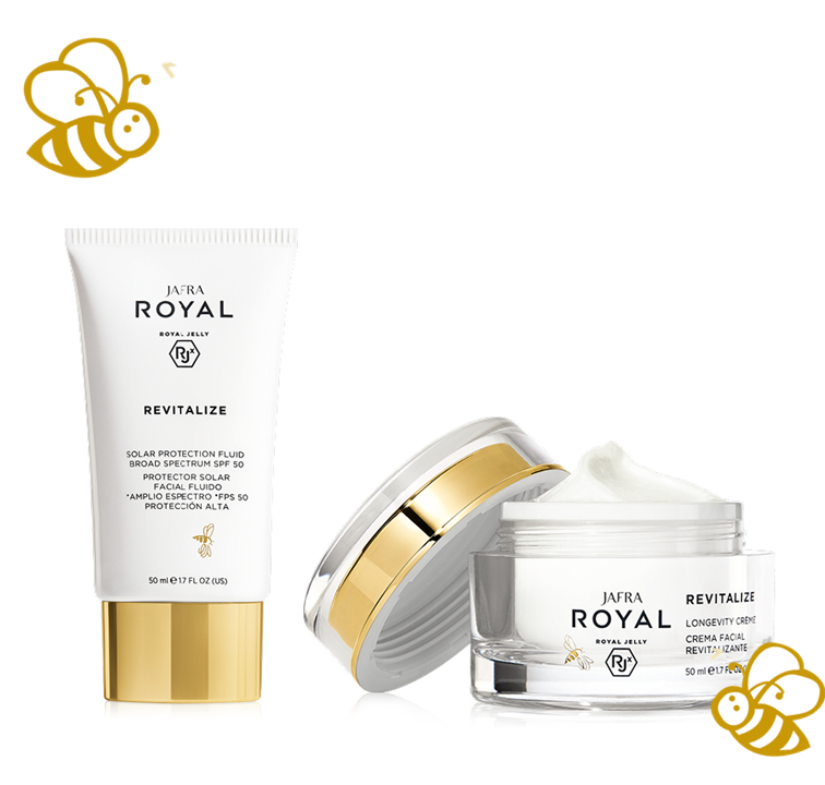 Jafra Royal Jelly Revitalize ROYAL JELLY Revitalize and Renew Set