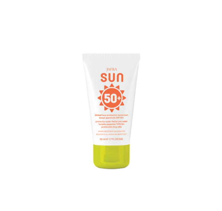 Jafra Sun Getönte Sonnenschutzcreme für das Gesicht SPF 50+