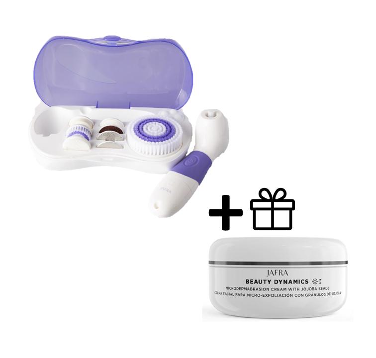 Jafra 9 in 1 Reinigungssystem für Gesicht und Körper und Mikrodermabrasion Creme