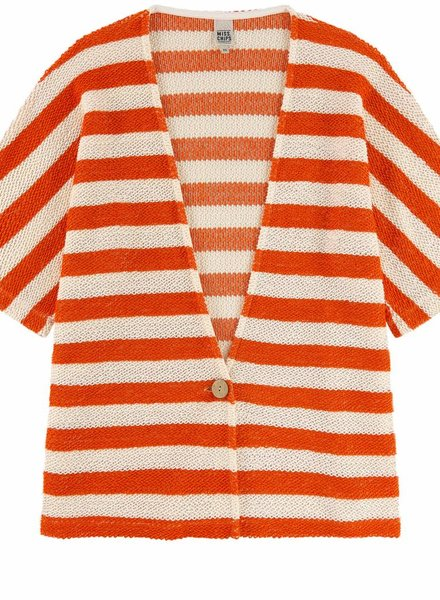 Miss Chips Kimono wit/oranje