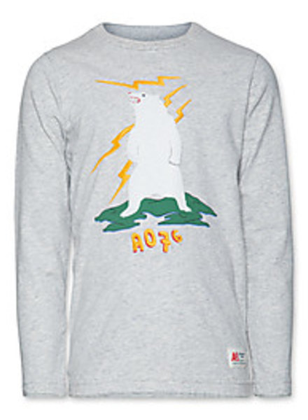 AO76 Pull gris ours