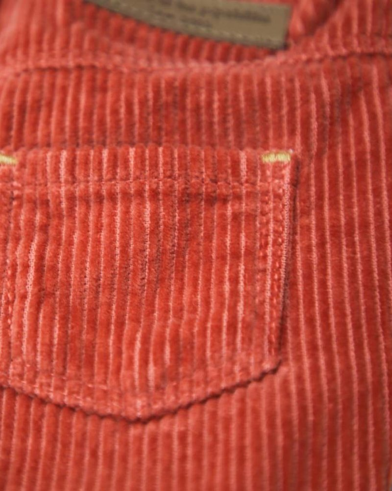 Arsène et les pipelettes Pantalon velours côtelé tomette
