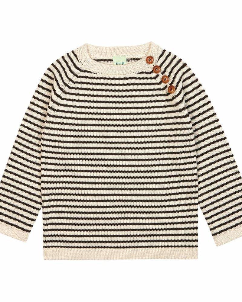 FUB Sweater ecru/navy