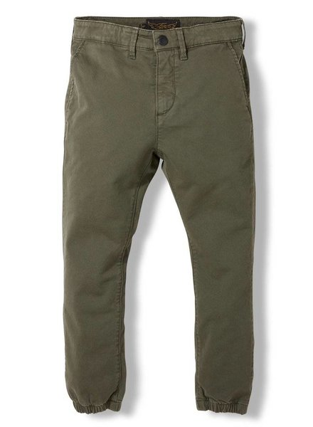 Finger in the nose Skater army green elasticed bottom chino fit pants