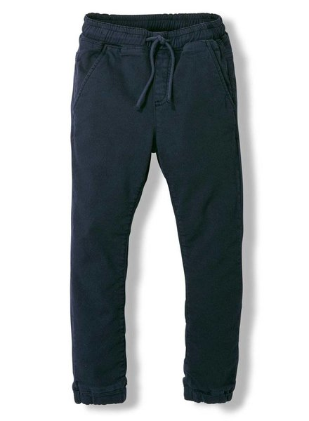 Finger in the nose Longbeach super navy woven jogging pants