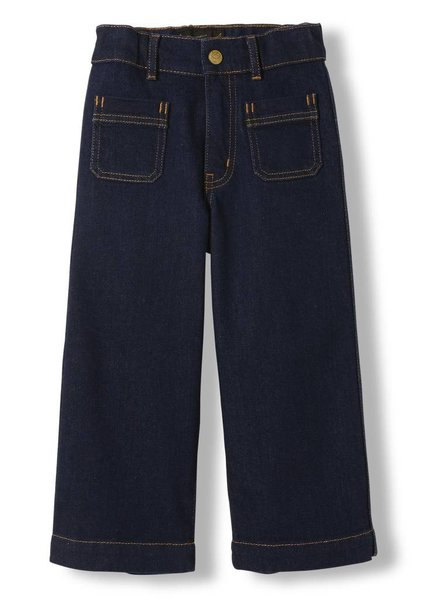 Finger in the nose Barbra raw denim blue woven cropped large jeanspants