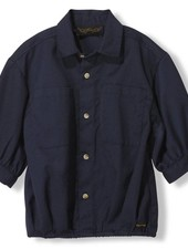 Finger in the nose Swell night blue oversized short sleeve shirt