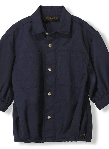 Finger in the nose Swell night blue oversized short sleeve shirt