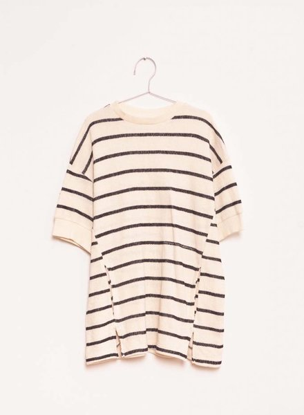 Fish & Kids Stripes Dress Ecru/Black