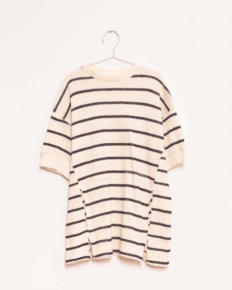 Fish & Kids Stripes Dress Ecru/Black