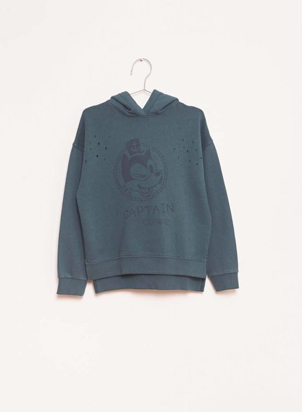 Fish & Kids Captain Hoodie Green