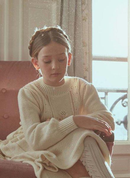Fish & Kids Knitted Victorian Dress Ecru