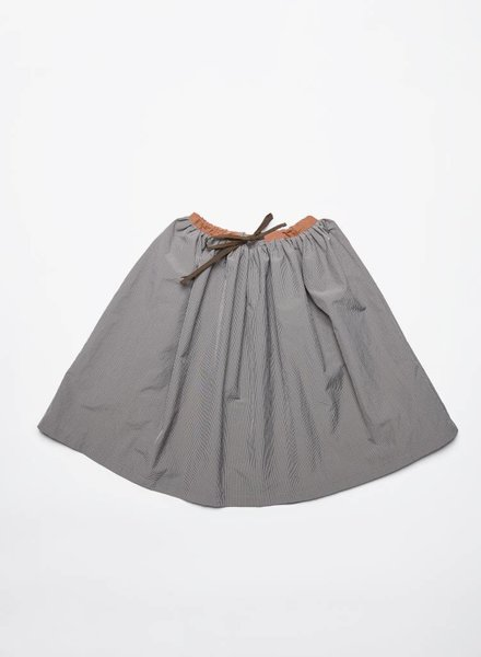 Leoca LONG MILLIERS SKIRT SQUARE GRIS