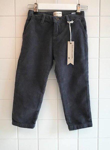 Arsène et les pipelettes Pantalon gris en velours