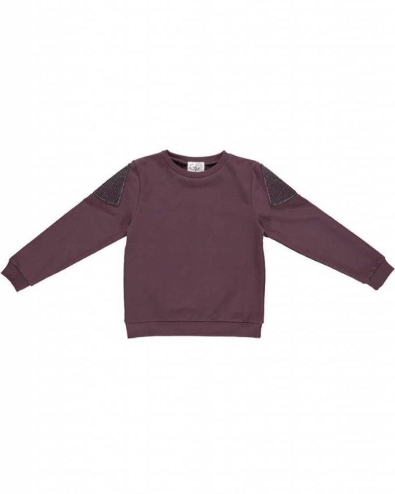Gro Company sweater aubergine