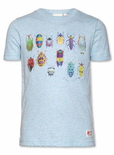 AO76 T-shirt  c-neck beetle heather light blue