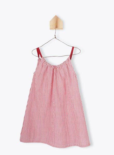 Arsène et les Pipelettes Dress red with stripes