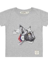 Soft Gallery T-shirt robotic light grey