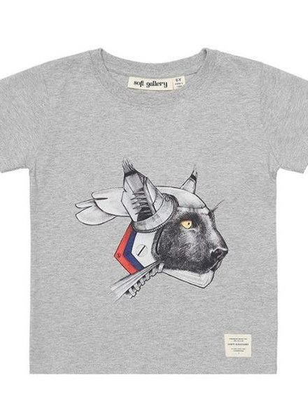 Soft Gallery T-shirt robotic light grey