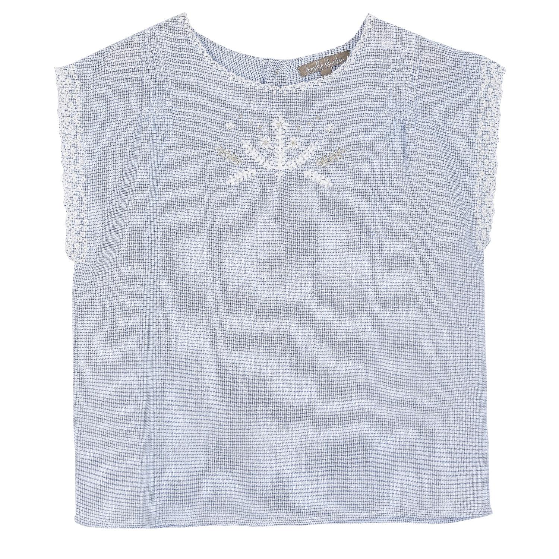 style de mode 100% de haute qualité remise spéciale Emile et Ida hemd Blouse bleu O012