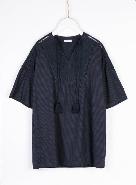 BY-BAR Donkerblauwe jurk
