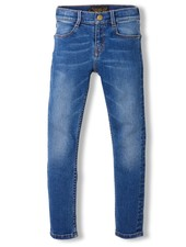 Finger in the nose Dirty blue woven skinny fit jeans