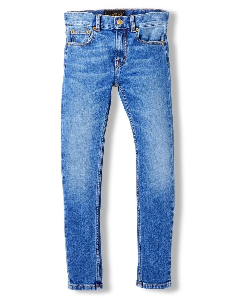 Finger in the nose Finger in the Nose NOGTEDEFINIEREN ICON Authentic Blue Woven 5 Pockets Slim Fit Jeans 192-138-255