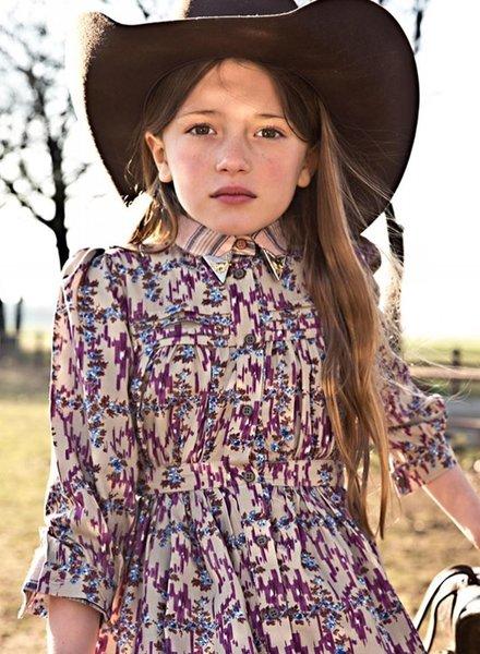 Morley Halflange  jurk karol ikat grape