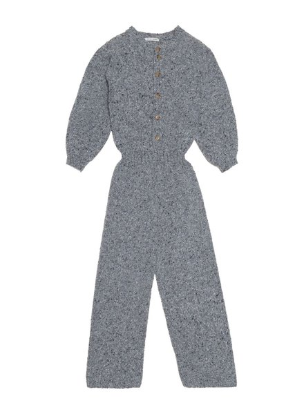 The New Society Knit Jumpsuit Grey Melange