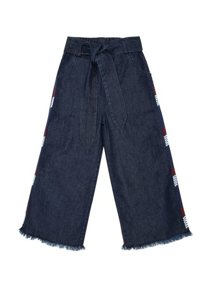 The New Society Julia Denim Pants with Embroidery