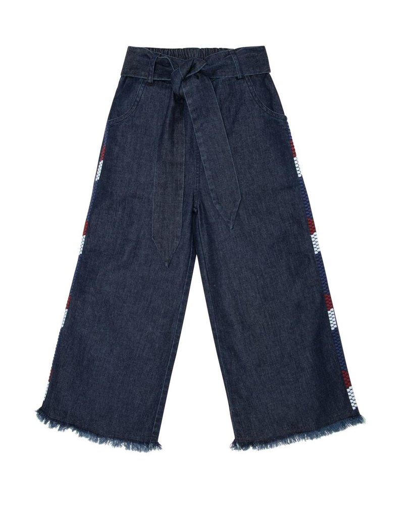 The New Society The New Society NOGTEDEFINIEREN JULIA Denim Pants with Embroidery