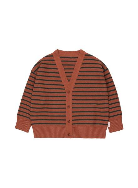 Tiny Cottons Cardigan brun foncé/vert