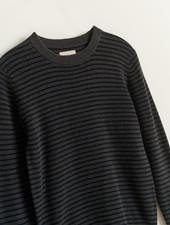 Bellerose Donkergrijze trui met strepen