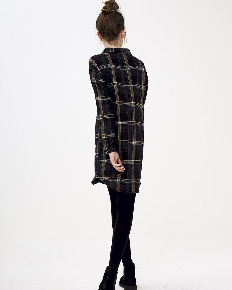 BY-BAR BY-BAR jurk CHECK dress 856 - midnight