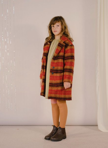Repose AMS Overcoat warm red check