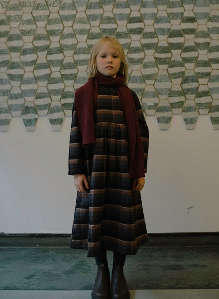 Repose AMS Midi dress warm inky brown