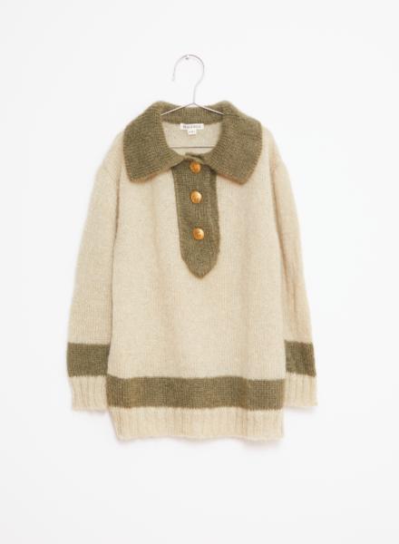 Fish & Kids Knitted jumper beige/green