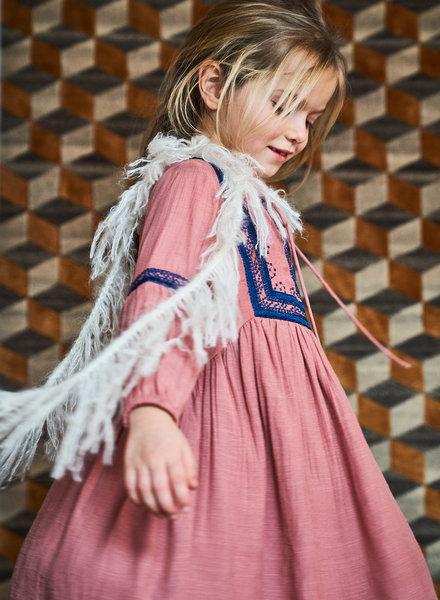 Simple Kids Dress Maia Crepe Blush