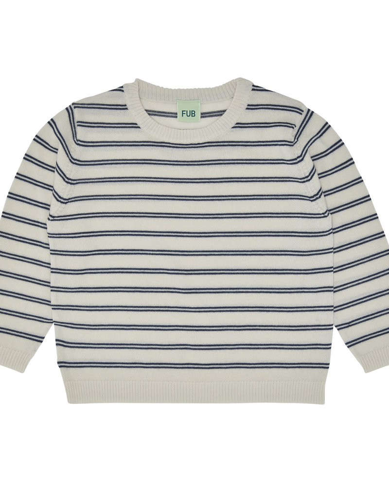 FUB Sweater stripes ecru/navy