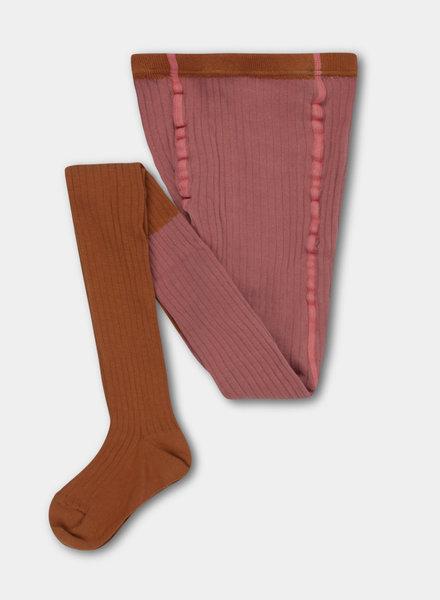 Repose AMS tights rose apricot color block