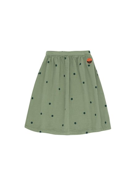 Tiny Cottons Halflange rok luckyphant Mid grey / bottle green