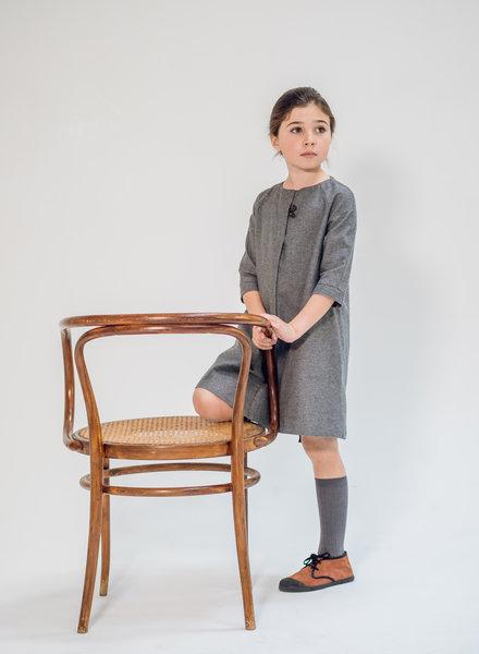 Annice Dress ranglan sleeve charcoal grey